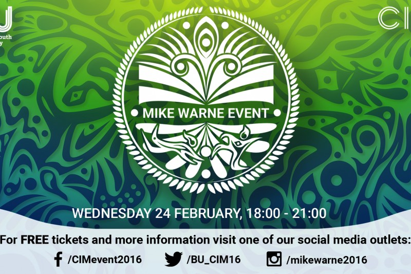 Mike Warne event poster 2016