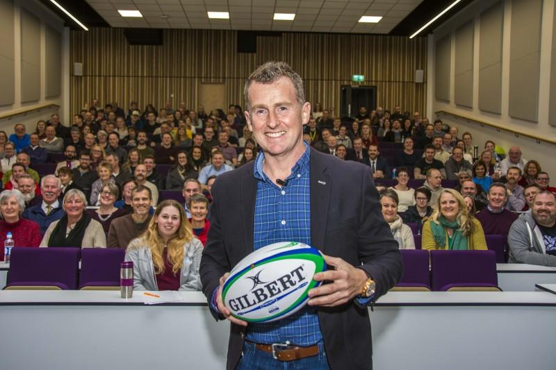 Rugby legend Nigel Owens tackles mental health at BU