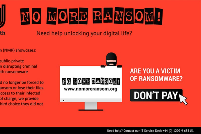 No more ransom - ransomware