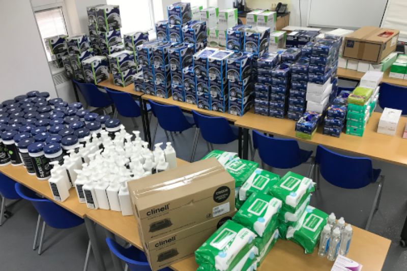 BU donates safety equipment to support NHS frontline
