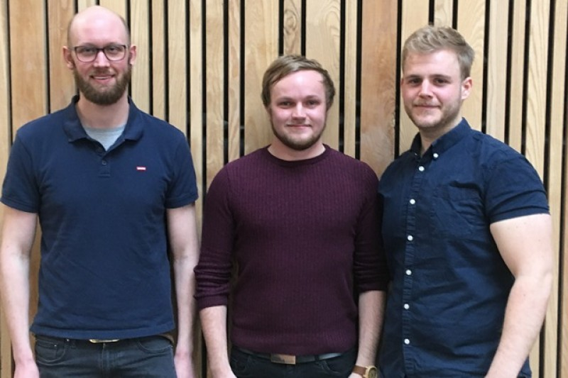 Product Design trio Dom, Matt and Josh return to BU for a masterclass with second-year students