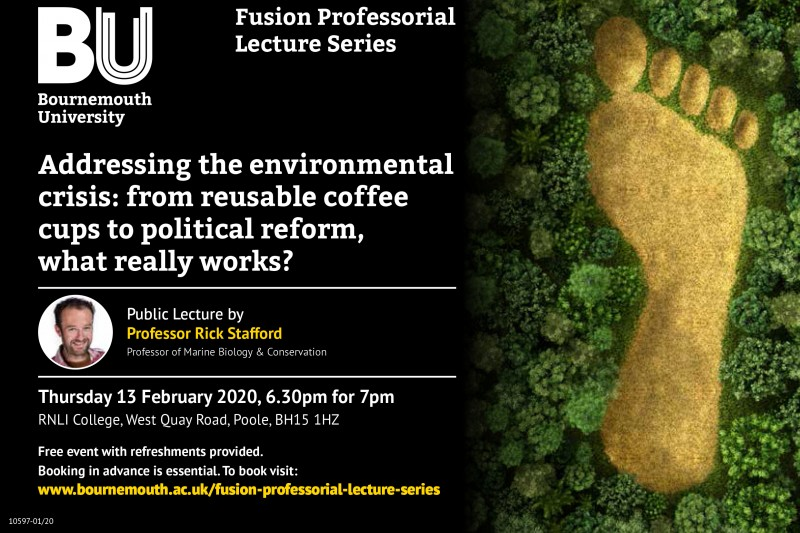 Fusion Professorial Lecture: Addressing the environmental crisis