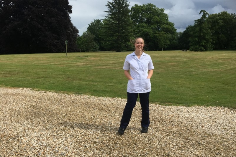 Rebekah Phillips, BSc (Hons) Physiotherapy student on placement