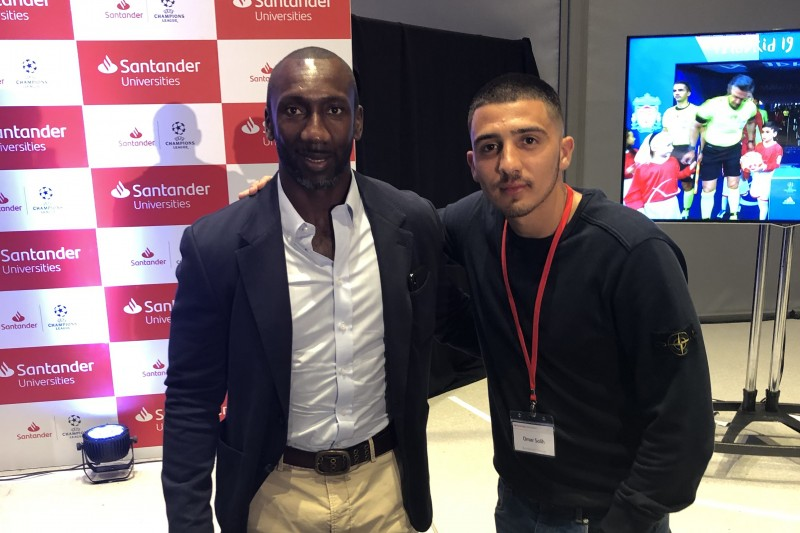 Santander Universities event: Omar Salih & Jimmy Floyd Hasselbaink