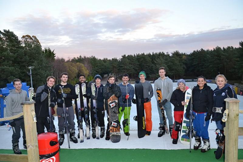 Image of a BU Skiing trip