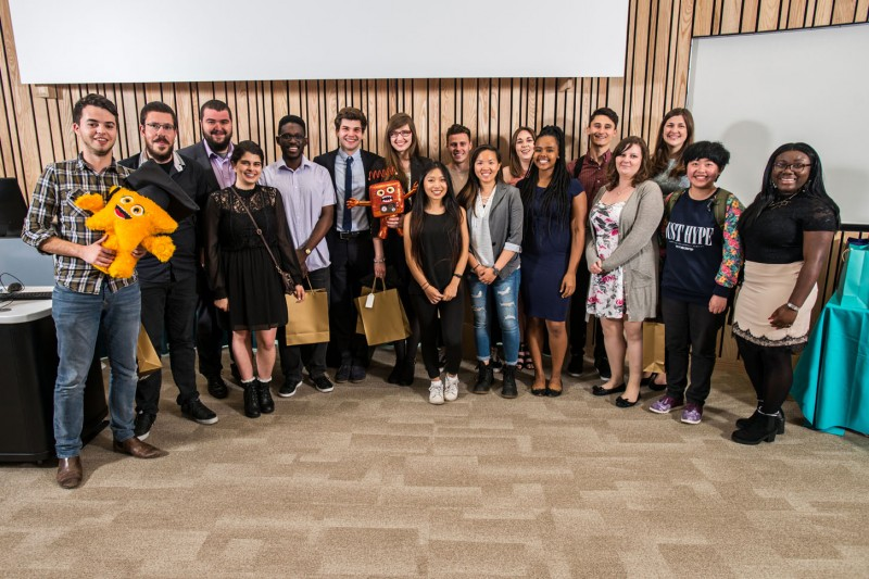 Nominees and winners at the BU Student Ambassador Celebration