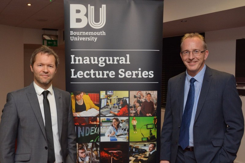 Tim Rees inaugural lecture with John Vinney