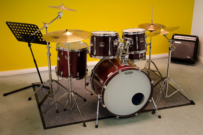 University music tuition drum kit