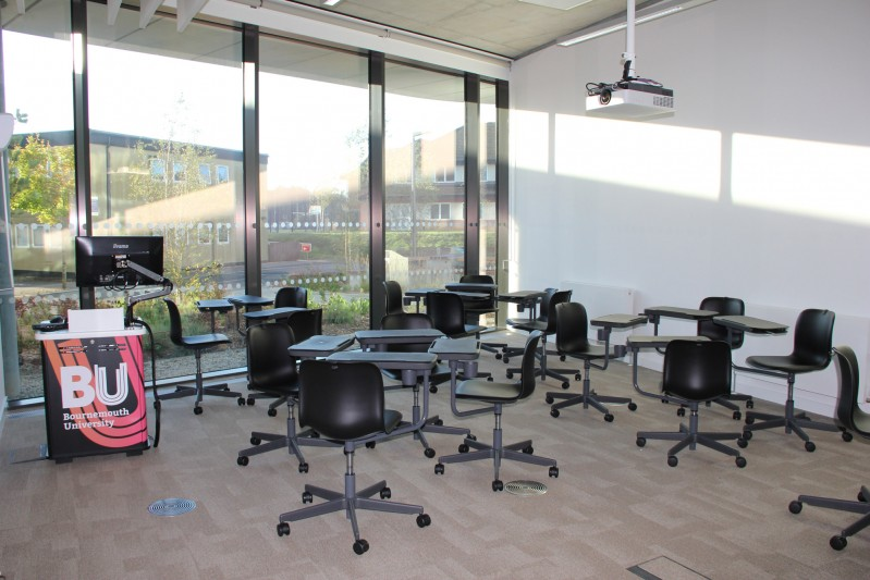 Tablet chair spaces in Fusion Building