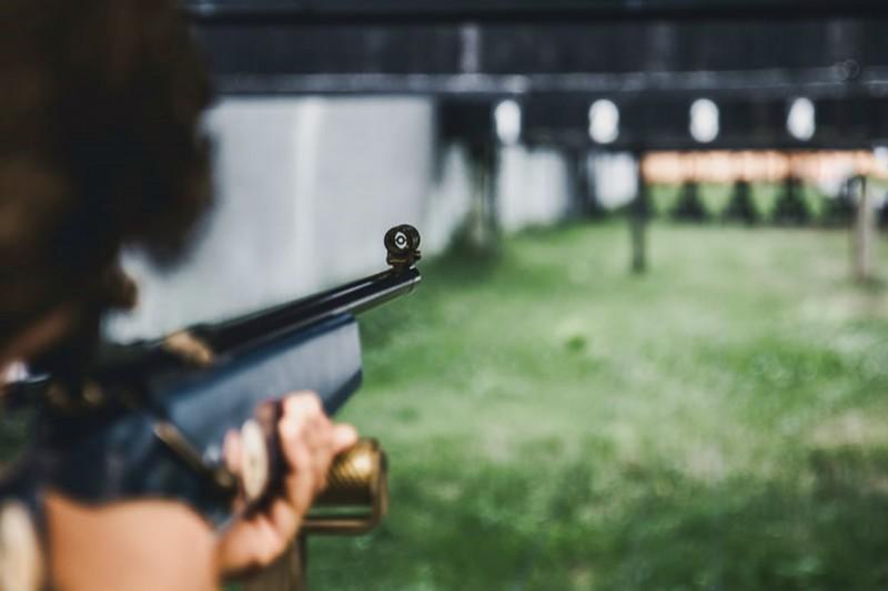 Image of an air rifle and air rifle range