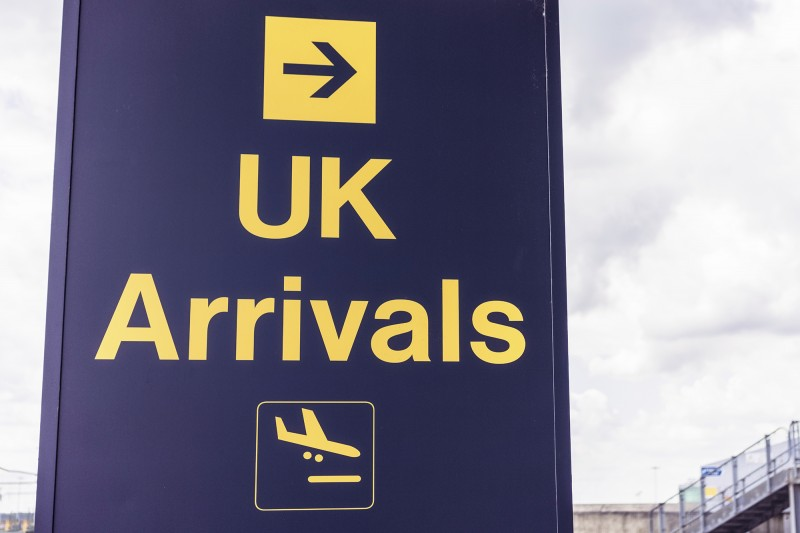 Arriving in the UK