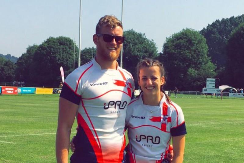 Matthew Spencer & Louise Burgess TeamBU rugby players
