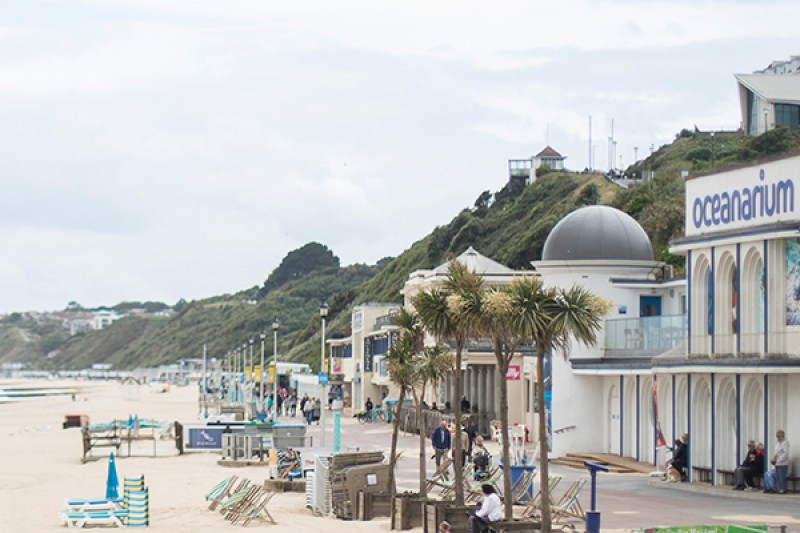 An image of the beach, prom and Oceanarium