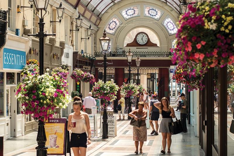 Victorian shopping arcade
