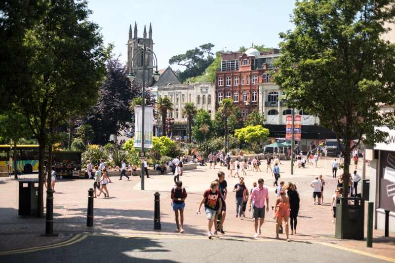 Bournemouth town centre square