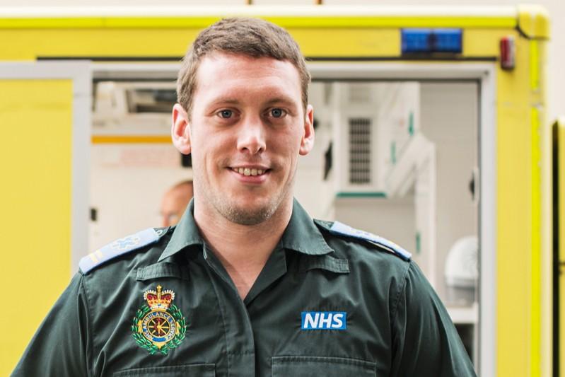 A BU ambulance and paramedic student