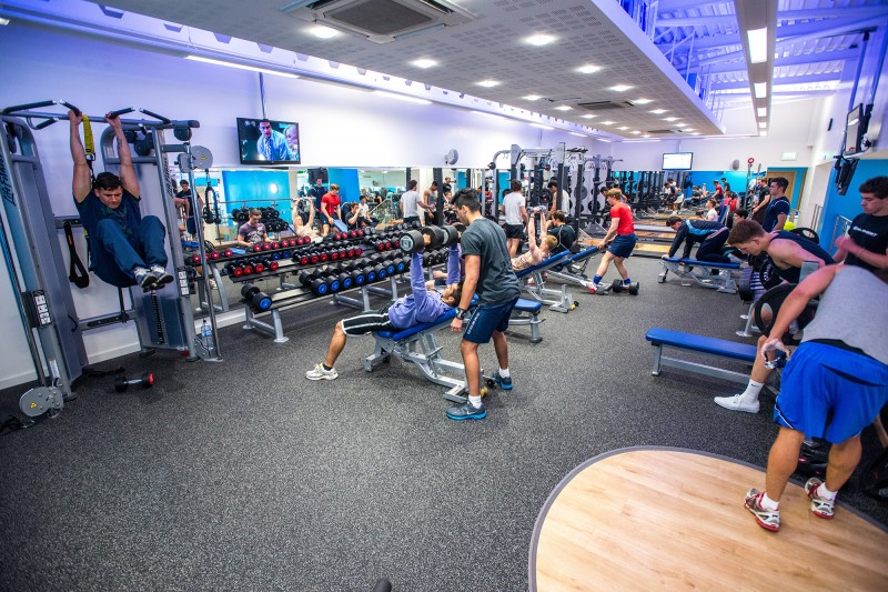 Gym weights room
