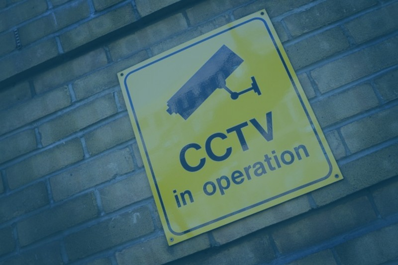 A sign saying 'CCTV in operation'