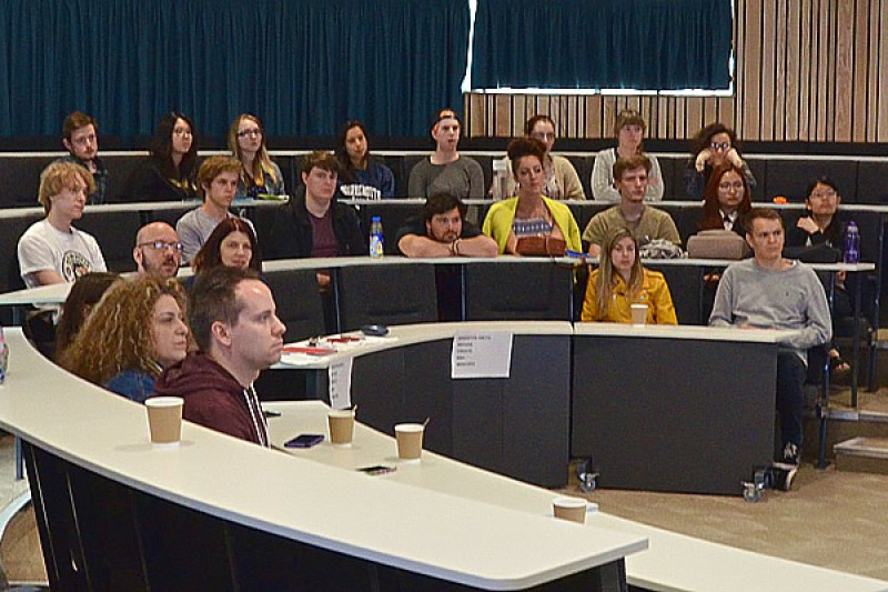 Image of students in a lecture theatre