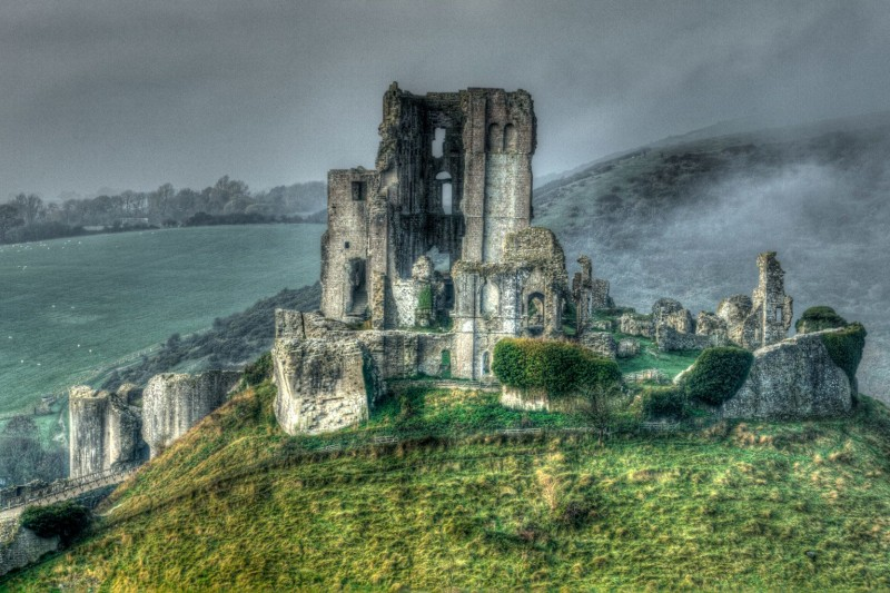 Landscapes on the Cusp of the Real and the Fantastic: Corfe Castle by Rehan Zia