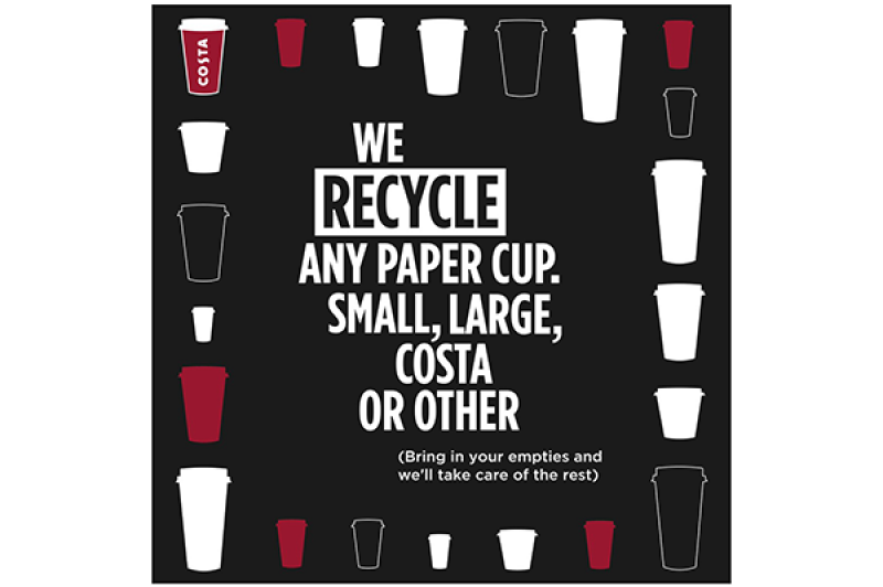 Recycle your takeaway cups