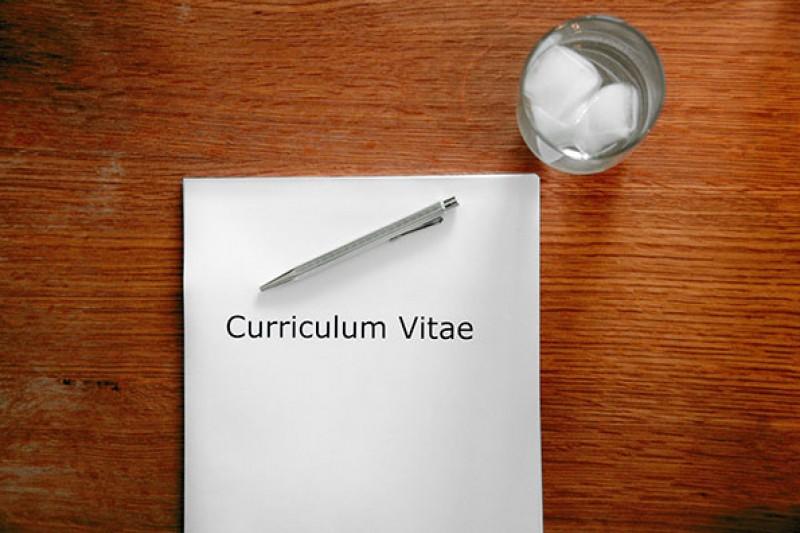 CV on desk