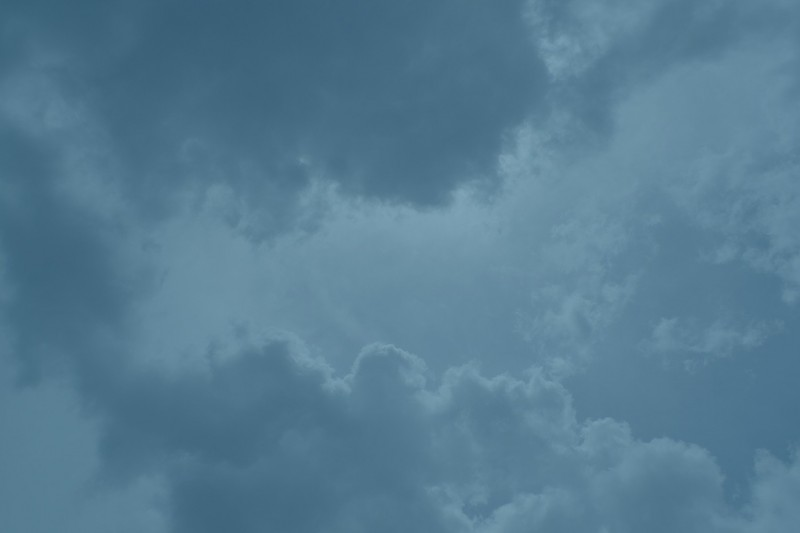Some clouds with a blue overlay