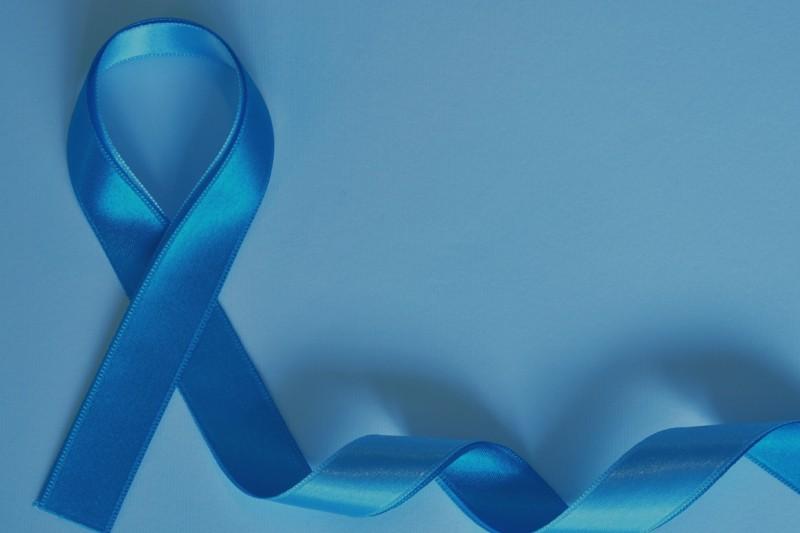 A blue ribbon