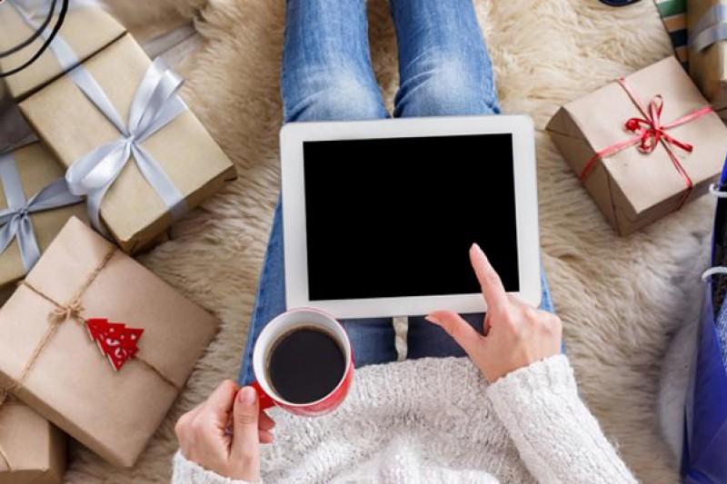 Festive online shopping