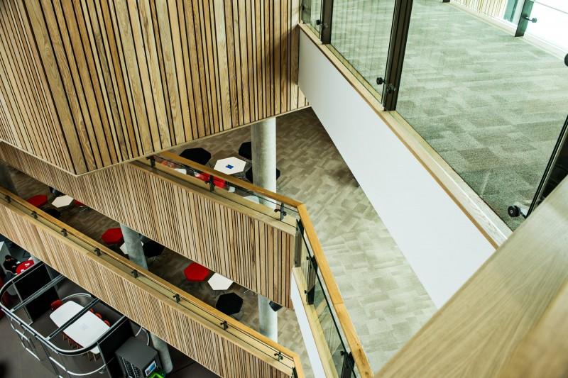Fusion building atrium stairs