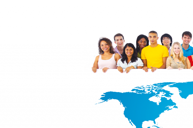 Global Talent Programme, people standing over multi-coloured map