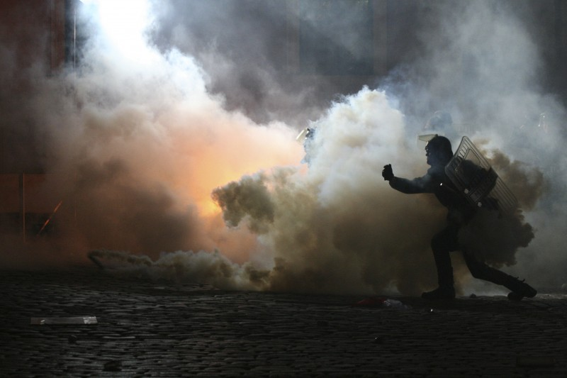 Tear gas, policing and human rights