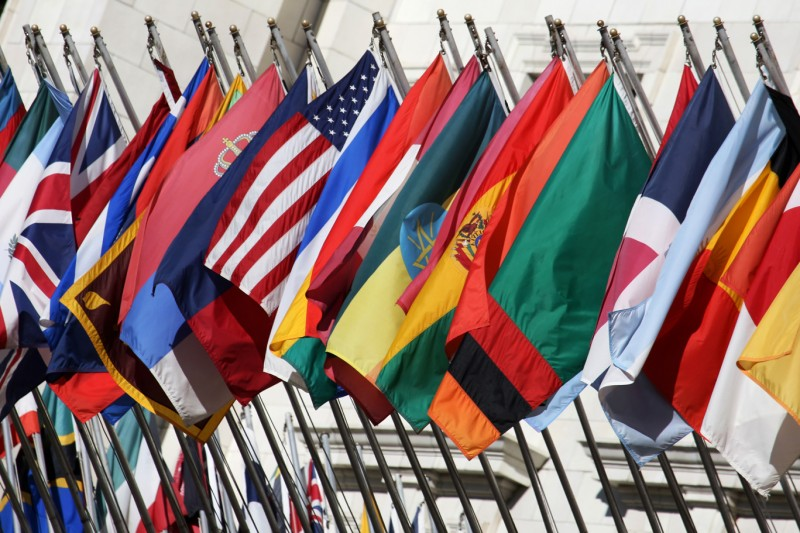 Row of country flags