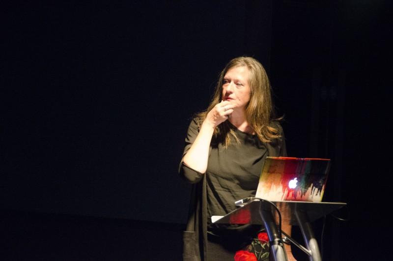 Kerstin Stutterheim during lecture