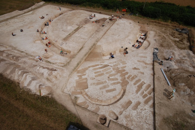 Knowlton Prehistoric Landscape Project aerial