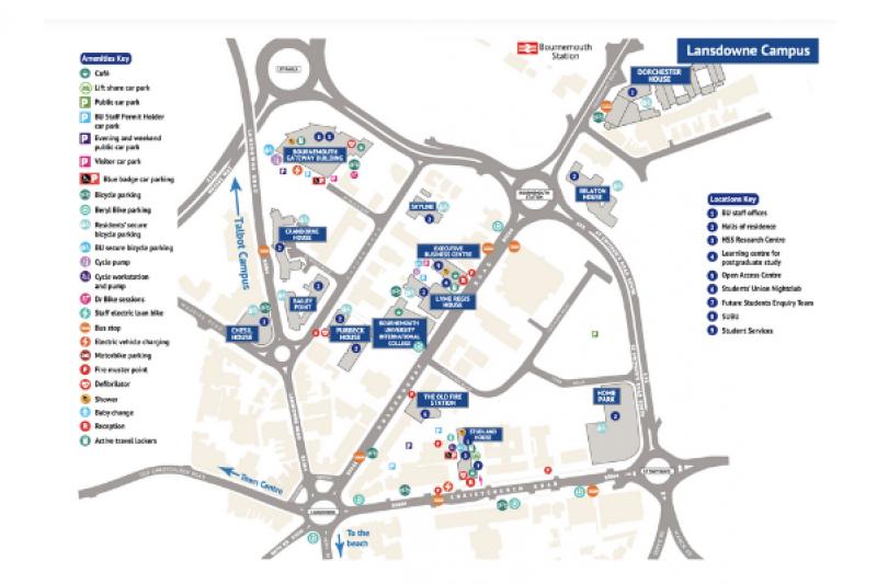 A map of Lansdowne Campus