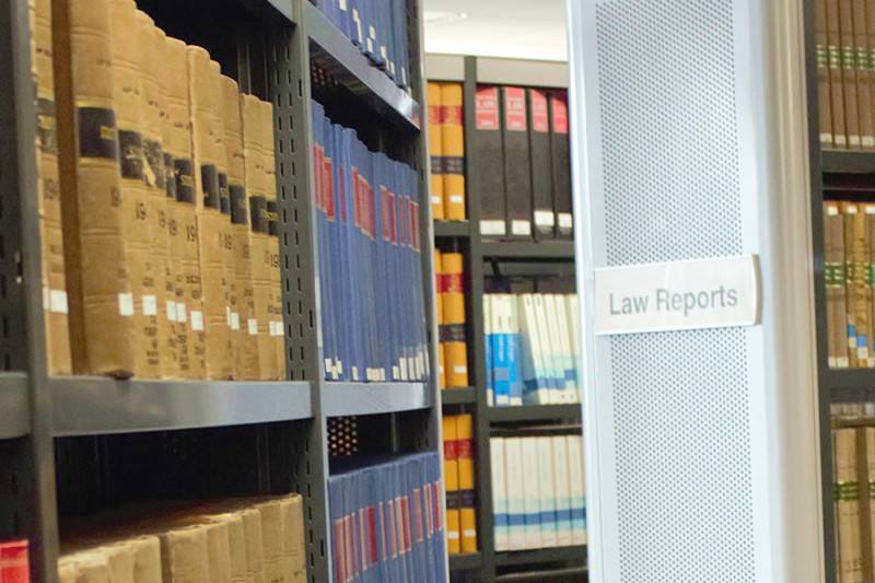 Image of law books at the library