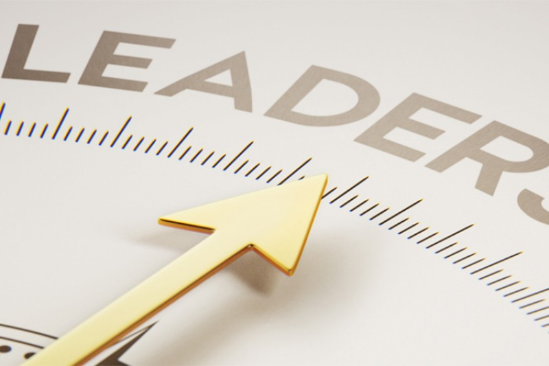 A compass pointing in the direction of leadership