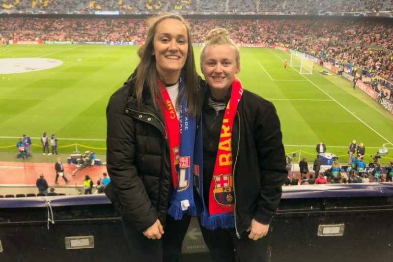Madeleine Jones at Barcelonas Camp Nou stadium
