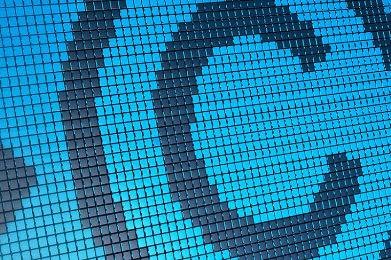 Copyright logo on a blue background