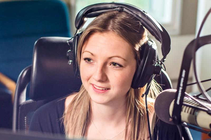 radio studio student