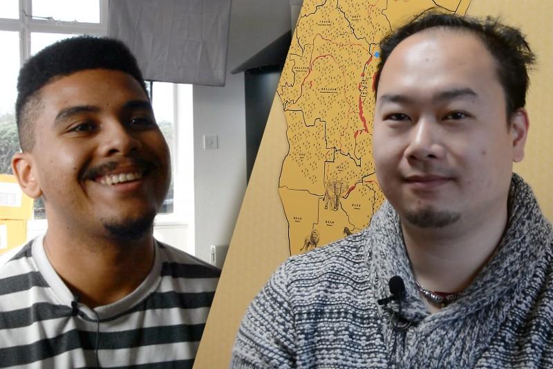 Micah Douglas studies Events Management and Charles Cai studies Digital Effects