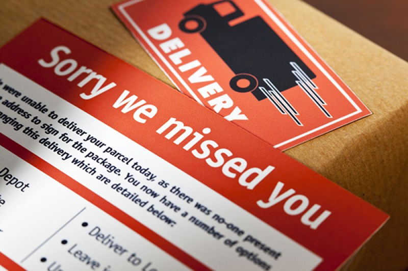 missed delivery card