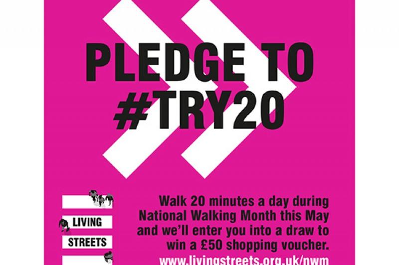 National walking month pledge