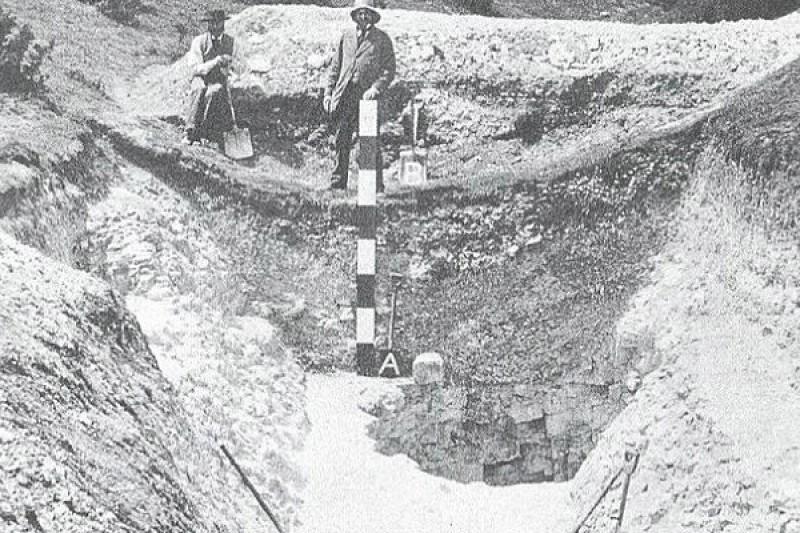 Neolithic flint mine investigation 1875