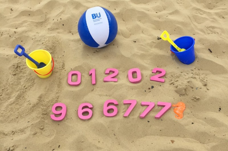Clearing numbers on beach
