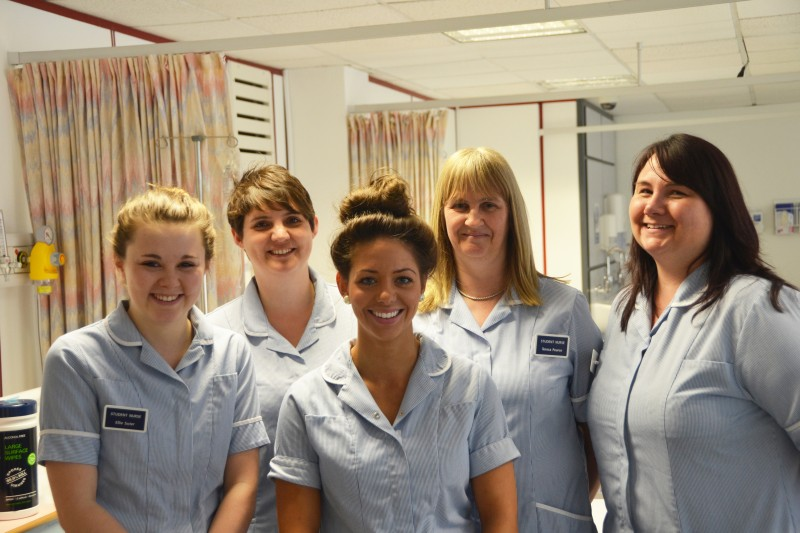 the nursing students