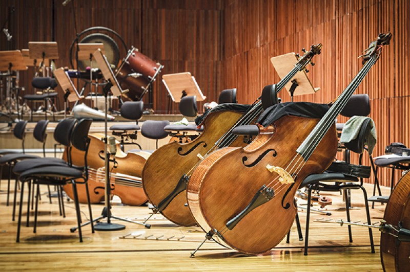 orchestra with chairs