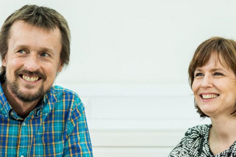 Pete Thomas and Sarah Thomas, BU academics
