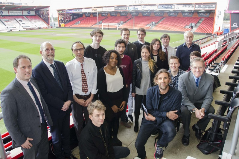 Students score results at 'Pitch at the Pitch' Challenge